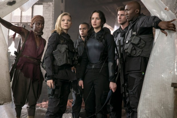Katniss and her crew enter the District 8 hospital.