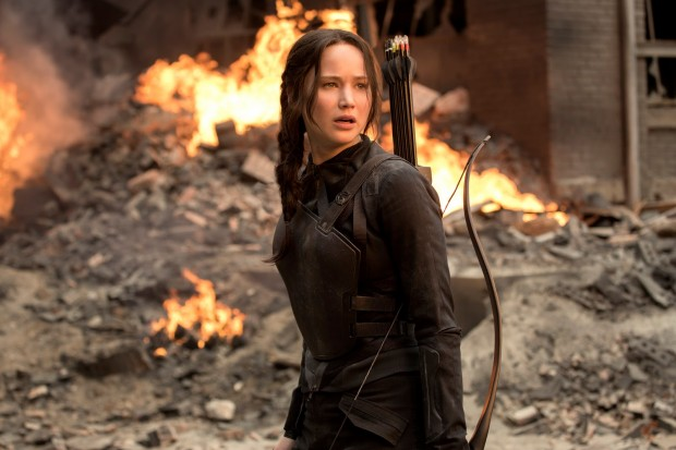 Katniss has a message for President Snow.