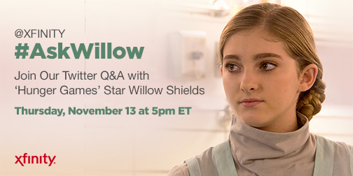 #AskWillow willow shields xfinity