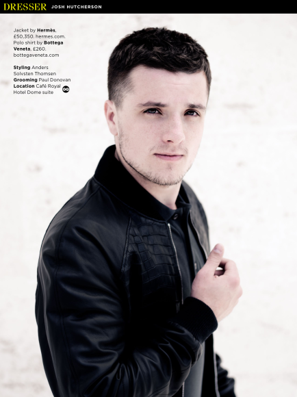 josh hutcherson british gq white wall