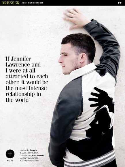 josh hutcherson british gq white wall hand