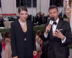 lorde ryan seacrest e live from the red carpet golden globes