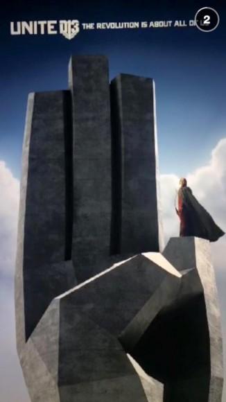 Katniss Unite Stone District 12 Salute Snapchat