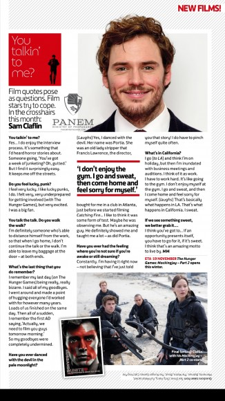 total film scan sam claflin interview you talkin to me