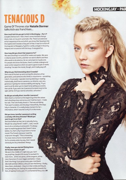 Natalie Dormer interview Total Film scan Mockingjay Part 2 103 December 2015