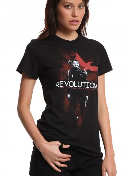 hunger games mockingjat t-shirt revoution the fire will burn forever katniss