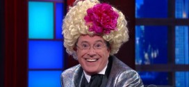 "Stanley Tucci on Colbert's Caesar Impersonation: ""You're More of an Effie Trinket"""